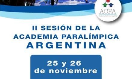 Se viene la Academia Paralímpica Argentina