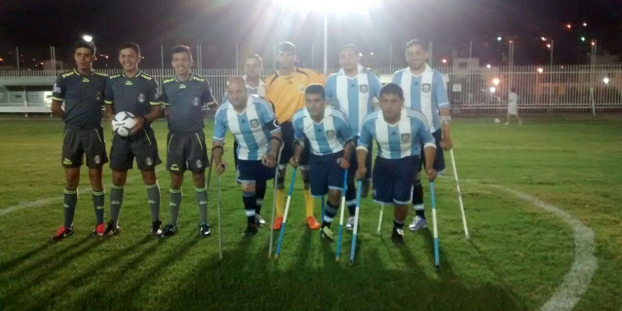 Fútbol para amputados: Argentina ganó sin jugar