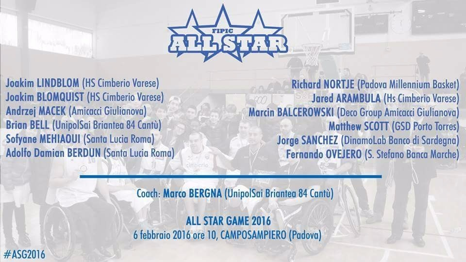 Berdún y Ovejero presentes en el All Star Game de Italia