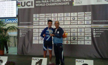 Ciclismo adaptado: Rodrigo López se subió al podio en Italia