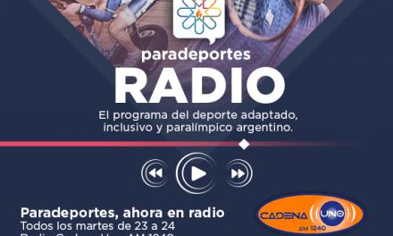 Este martes a las 23, nuevo programa de Paradeportes Radio