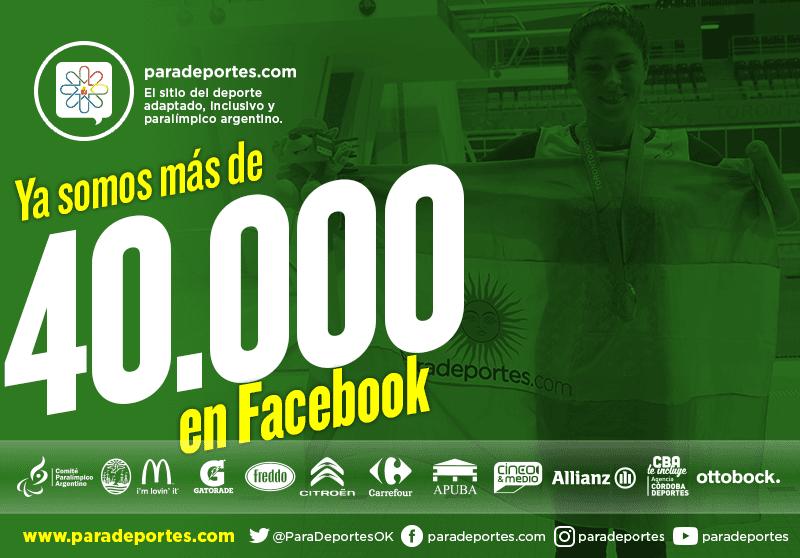 Paradeportes crece: Ya somos más de 40.000 fans en Facebook