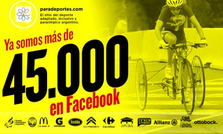 Paradeportes no para: Superamos los 45.000 fans en Facebook y un alcance de 9.000.000 de personas