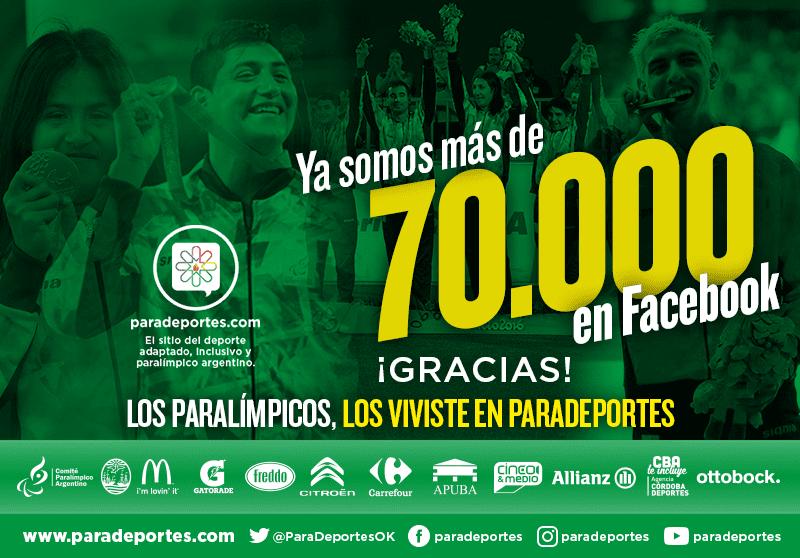 Paradeportes no para: Superamos los 70.000 fans en Facebook