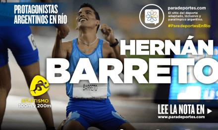 La historia de vida de Hernán Barreto, doble medallista en Río 2016