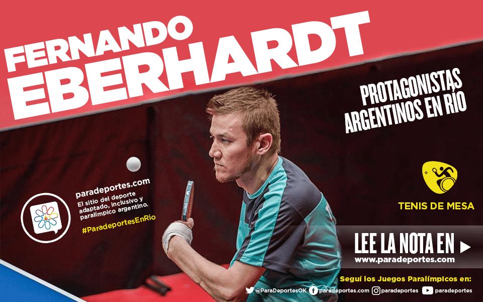 """Eberhardt: """"Estoy en un buen nivel y con mucha confianza"""""""