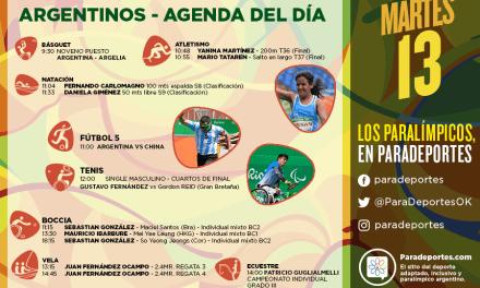 Juegos Paralímpicos Río 2016 – La agenda del martes 13
