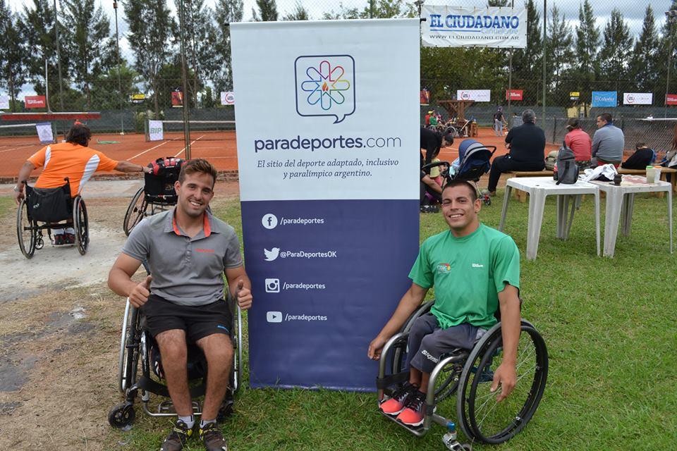 Tenis adaptado: Casco y Palacio, campeones del dobles en Chile