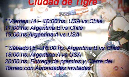 Quad rugby: Cuadrangular internacional en Tigre