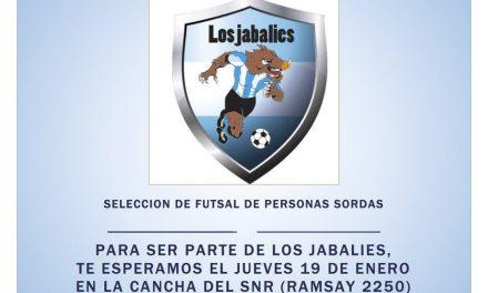 Futsal para sordos: los Jabalíes buscan nuevos jugadores