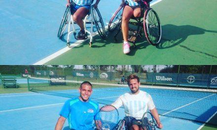 Tenis adaptado: campeones argentinos en el dobles del Zúñiga