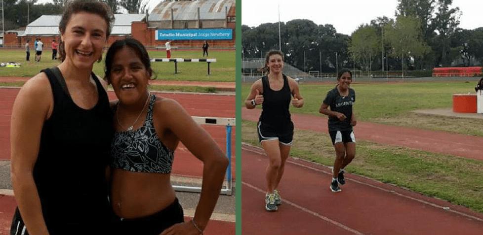Atletismo: Yanina Martínez se entrenó con otra medallista dorada