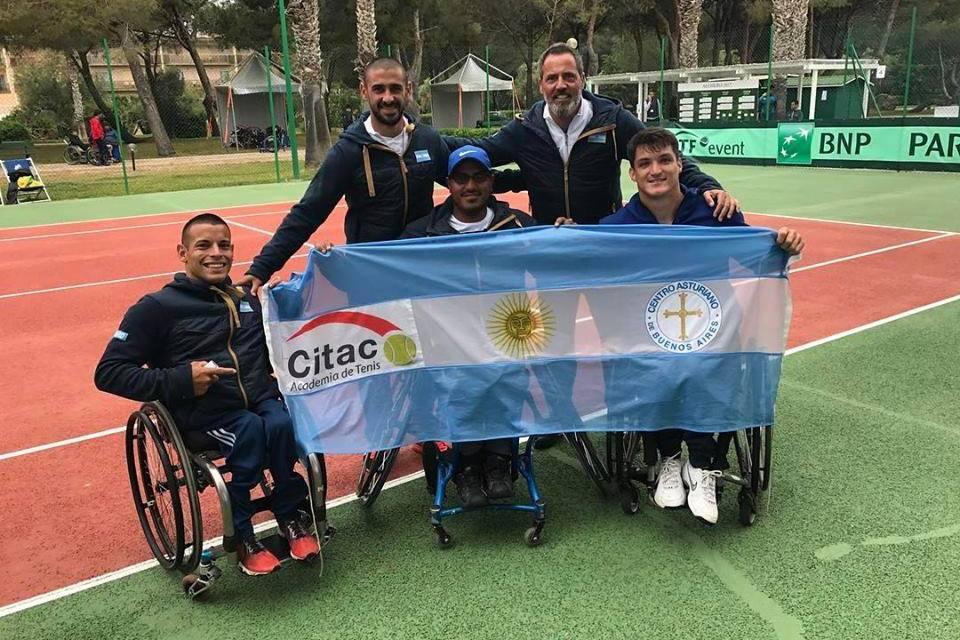 Tenis adaptado: tres argentinos en el Super Serie de Francia