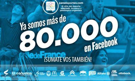 Paradeportes superó los 80.000 fans en Facebook