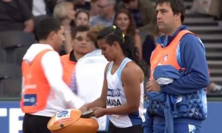 Mundial de para-atletismo: destacada actuación de Mariela Almada en lanzamiento de disco