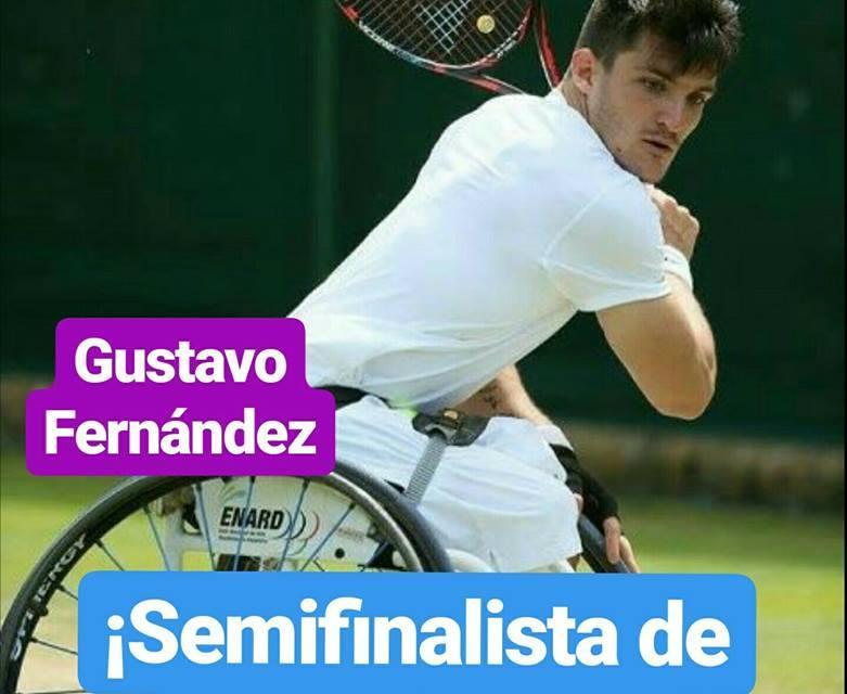 Tenis adaptado: Gustavo Fernández, semifinalista en Wimbledon