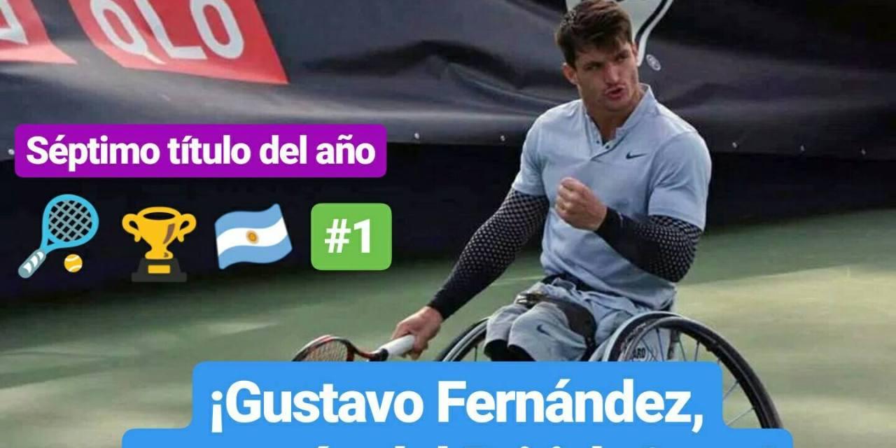 Tenis adaptado: ¡Gustavo Fernández, campeón de British Open!