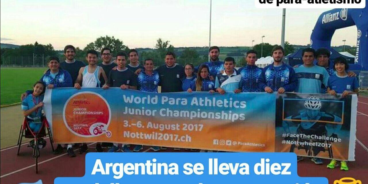 Mundial Juvenil de para-atletismo: Argentina se lleva diez medallas y mucha proyección