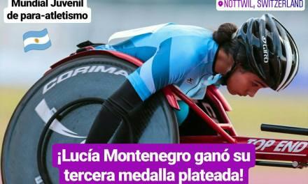Mundial Juvenil depara-atletismo: ¡Lucía Montenegro ganó su tercera medalla plateada!