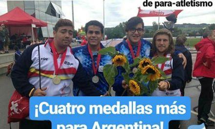 Mundial juvenil de Para-atletismo: ¡Cuatro medallas más para Argentina en Suiza!