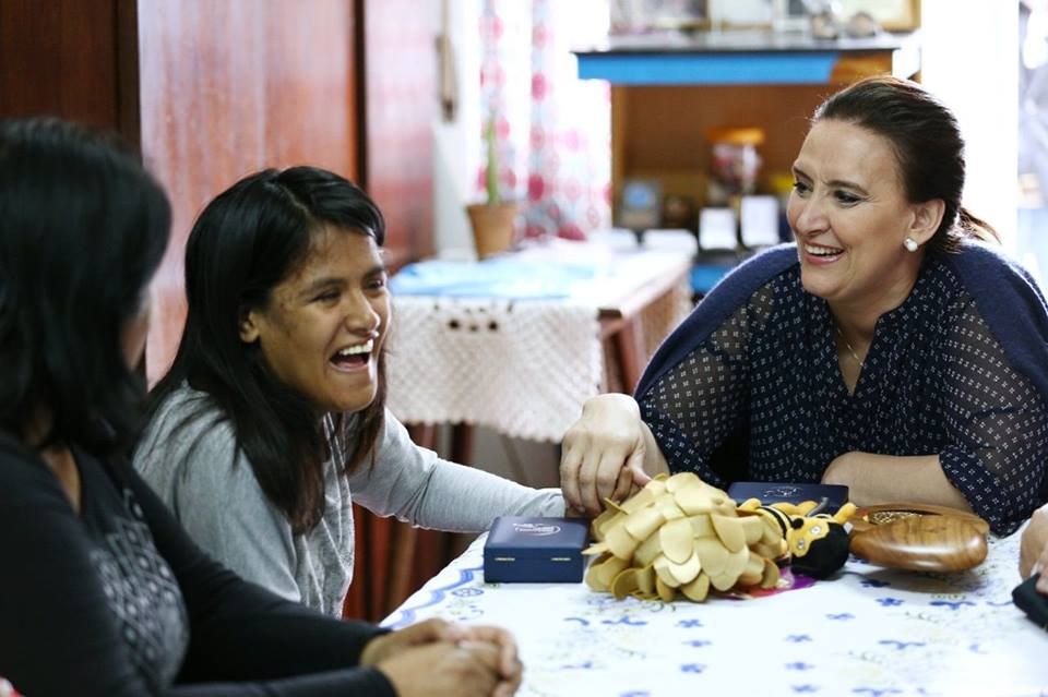 La vicepresidente Michetti visitó a Yanina Martínez