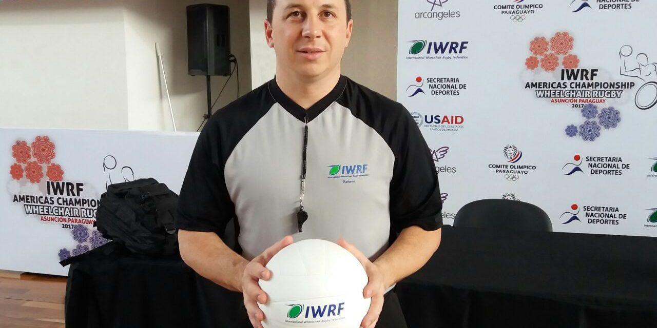 Quad rugby: Diego Ceballos, el primer árbitro internacional de Argentina