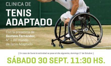 Tenis adaptado: Gustavo Fernández dará una clínica en Vicente López
