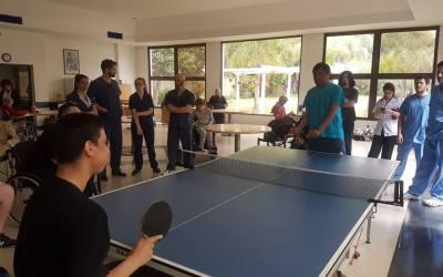 Tenis de mesa adaptado: jornada de iniciación en Hurlingham