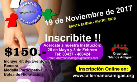 Maratón por la inclusión en Entre Ríos