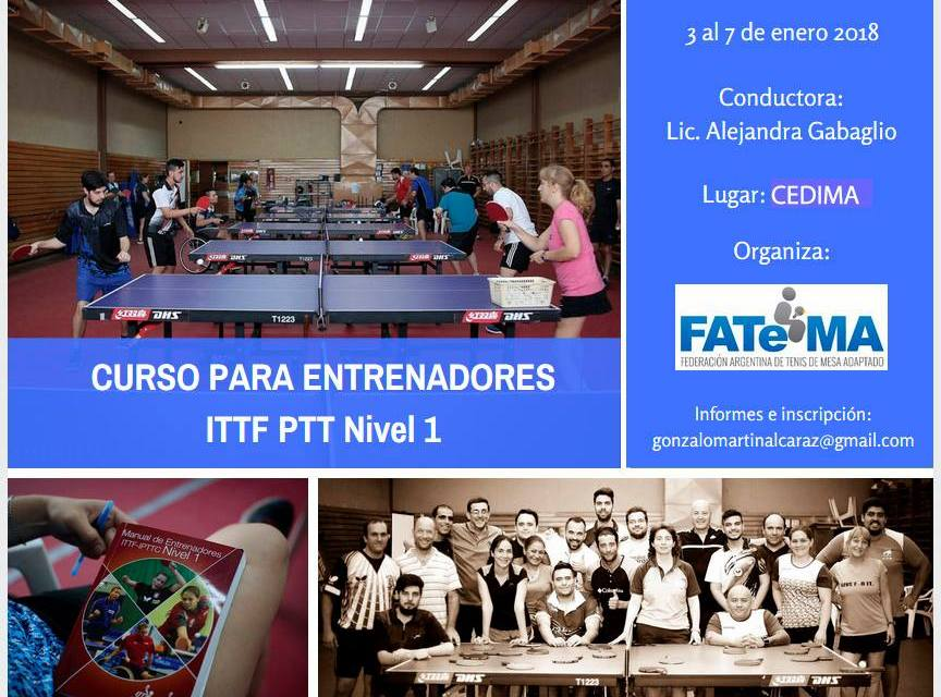 Tenis de mesa adaptado: nuevo curso para entrenadores