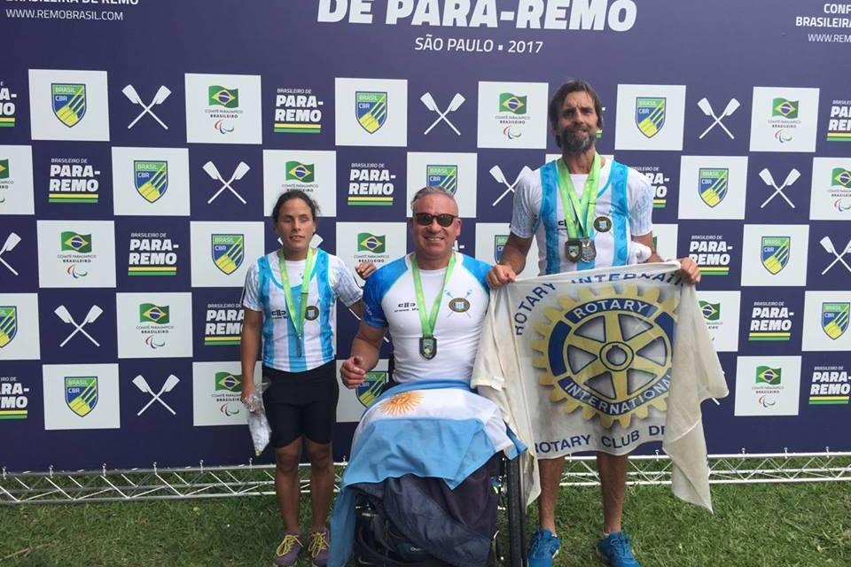 Remo: tres medallas argentinas en el Campeonato Brasileiro