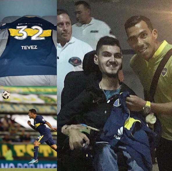 Powerchair football: el regalo de Tevez para Franco Greco