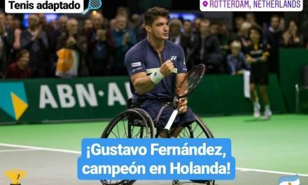 Tenis adaptado: ¡Gustavo Fernández, campeón en Holanda!