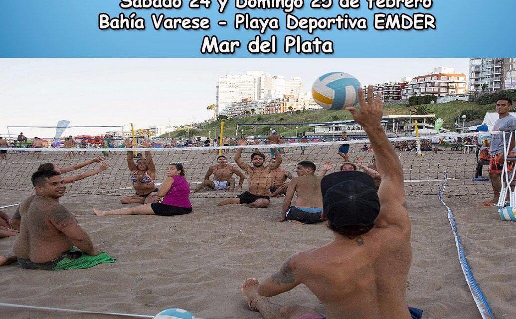 Paravóley: torneo de exhibición en Mar del Plata