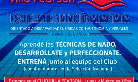 Escuela de natación adaptada en Vicente López