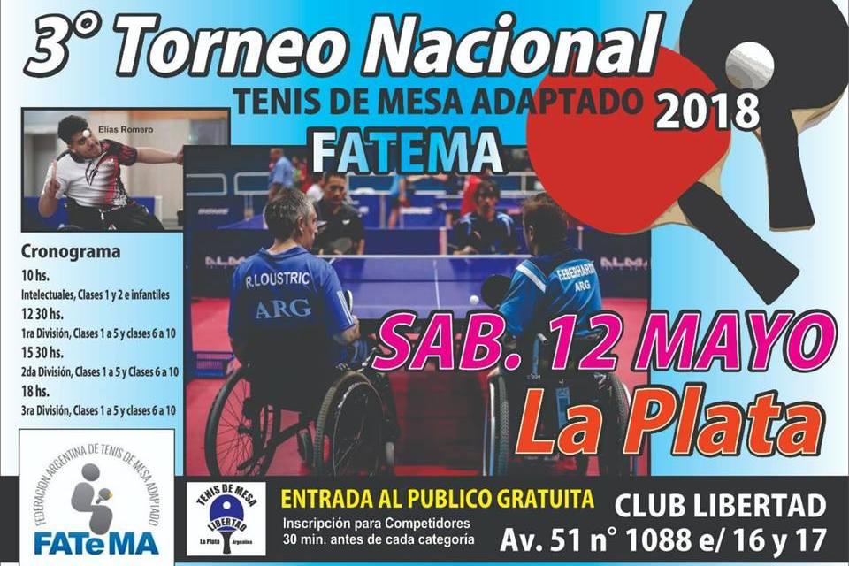 Tenis de mesa adaptado: el torneo nacional se traslada a La Plata