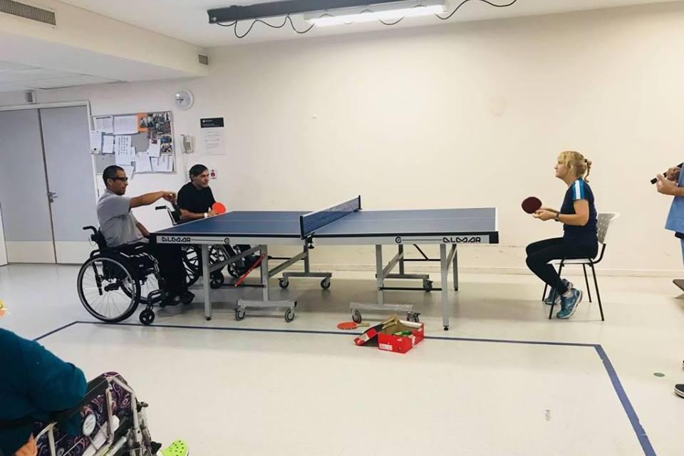 Tenis de mesa adaptado: nueva jornada de capacitación en San Cristobal
