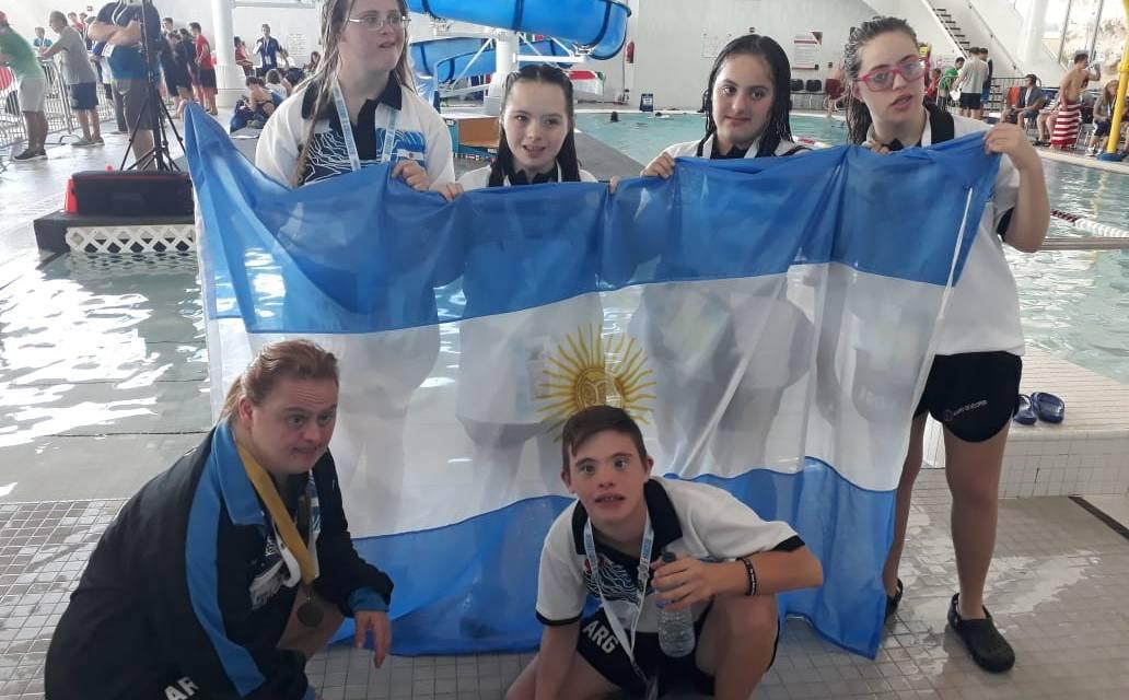 Argentina y un balance positivo en el Mundial de Natación y Nado Sincronizados para personas con sídrome de down