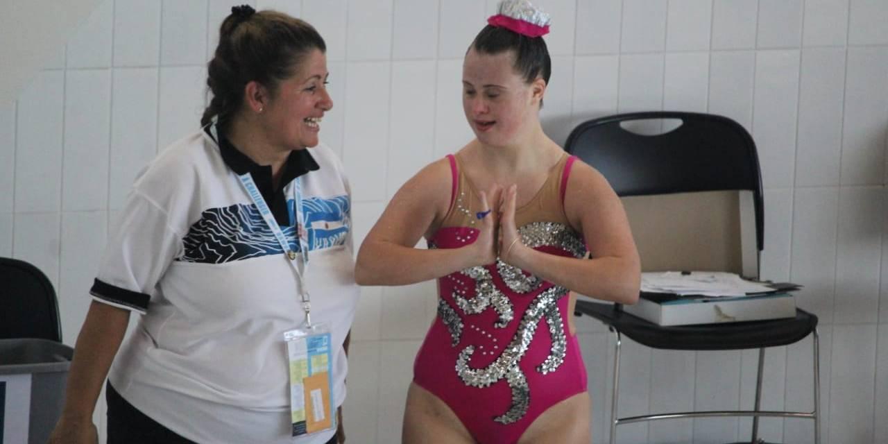 Jacinta Martínez Ranceze se subió al podio por duplicado en el Mundial de Deportes Acuáticos para personas con síndrome de down