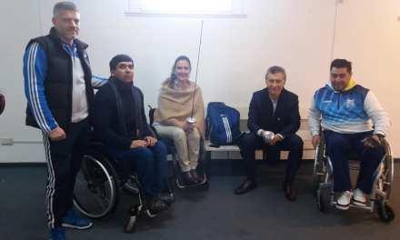 Esgrima paralímpica: Macri y Michetti visitaron a la Selección Argentina