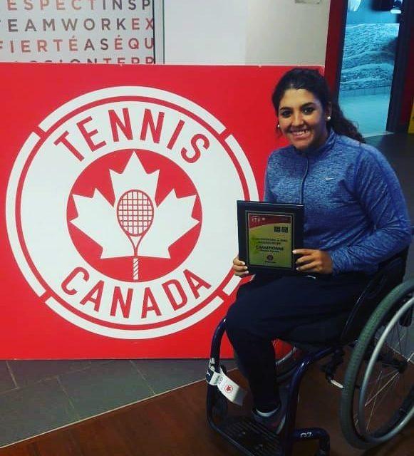 Tenis adaptado: Moreno, campeona en Canadá