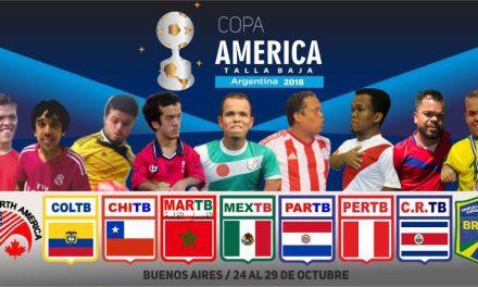 Se viene la Copa América de fútbol de talla baja