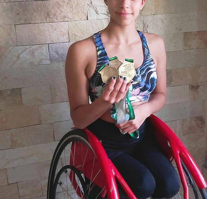 Atletismo: Lucía Montenegro, triple medalla dorada en Colombia