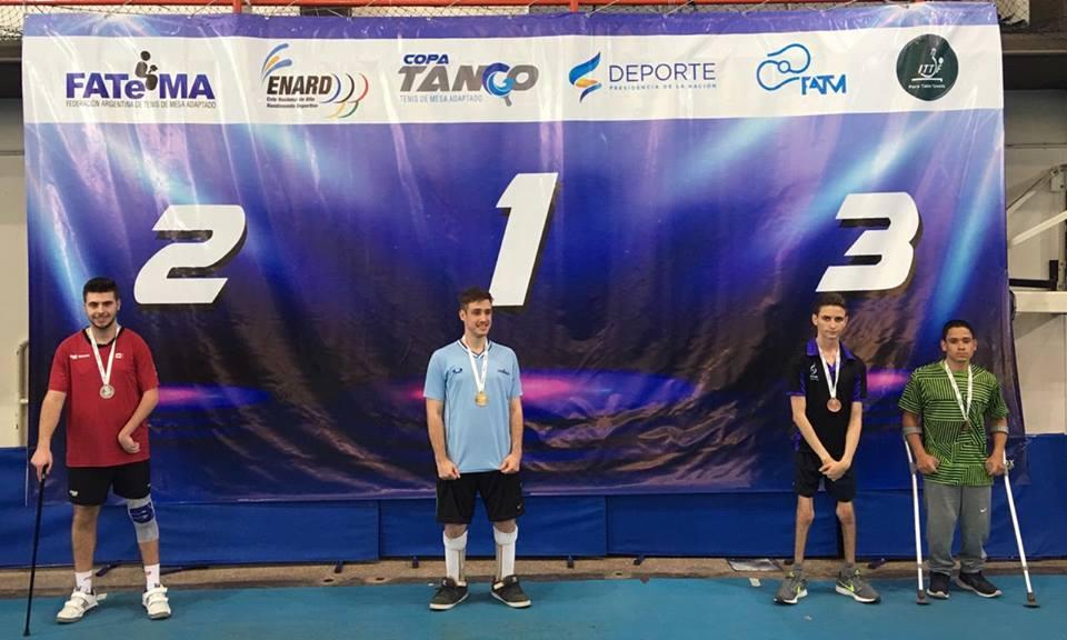 Tenis de mesa adaptado: Aleksy Kaniuka, campeón juvenil en la Copa Tango