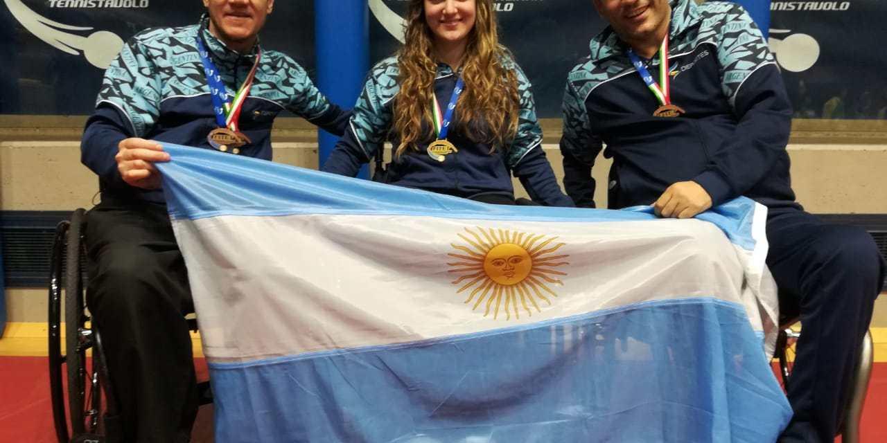Tenis de mesa adaptado: tres medallistas argentinos en Italia