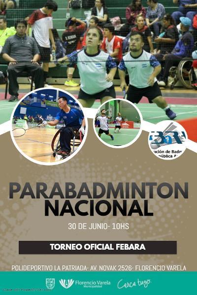 Parabádminton: se viene el primer Torneo Nacional