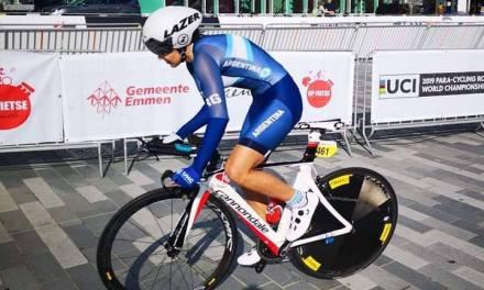 Paraciclismo: Mariela Delgado peleó por el podio en el Mundial de ruta de Holanda