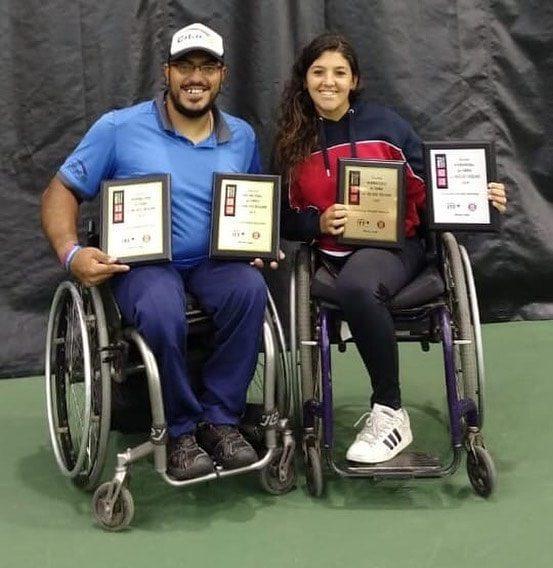 Tenis adaptado: Ledesma y Moreno, campeones en Canadá