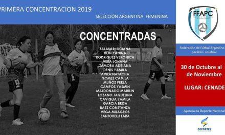 Fútbol PC: histórica concentración del seleccionado femenino
