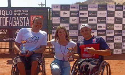 Tenis adaptado: Casco y Troncoso, sucampeones en Chile